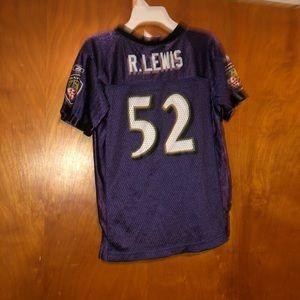 Baltimore ravens ray lewis #52 jersey size 4T kid